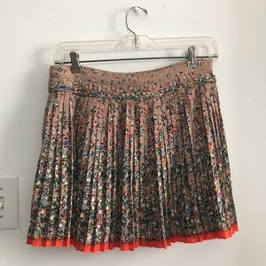 American Eagle Outfitters Skirts - Pleated Chiffon Floral Mini Skirt